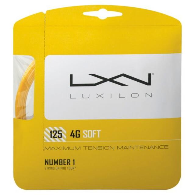 ルキシロン  テニスストリング  ポリエステル   4G SOFT 125     WRZ997111(品番)