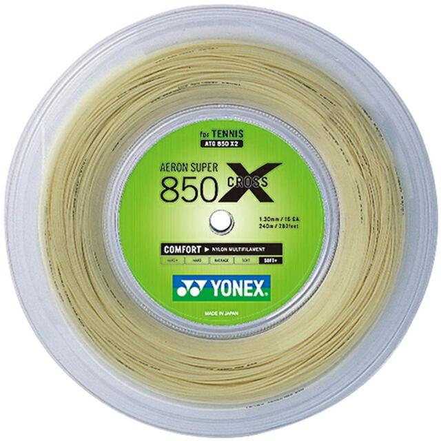【送料無料】YONEXテニスストリング AERON SUPER 850CROSS  240mロール       品番:ATG850X2