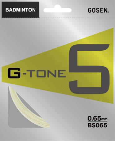 ゴーセン バドミントンガット   G-TONE5   BS065NA