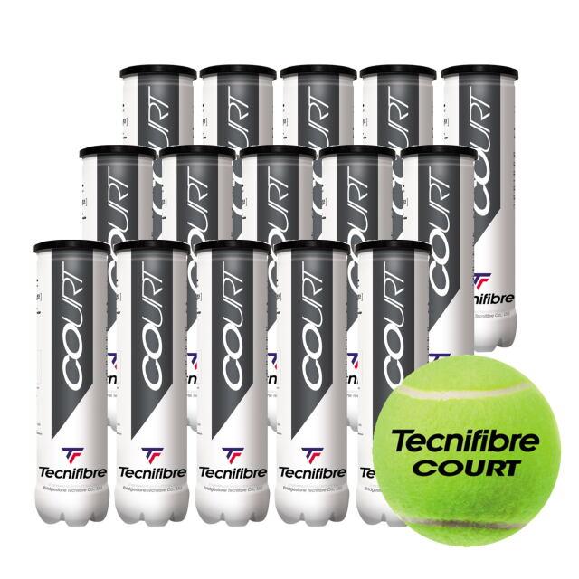 テクニファイバー  テニスボール   COURT (4個入缶)  1箱(15缶)   品番:TBA4CT1