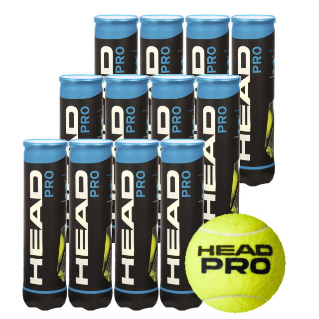 HEAD テニスボール   HEAD PRO (4個入缶)           1箱(12缶)