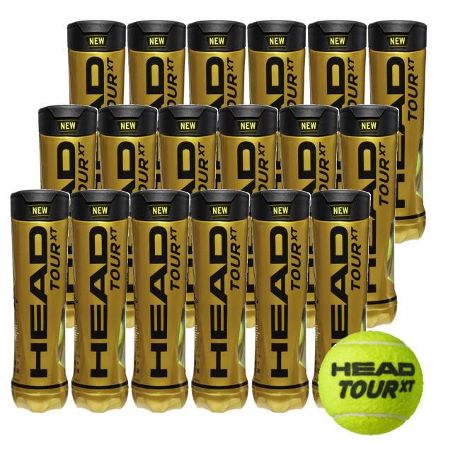 【送料無料】HEAD テニスボール   HEAD TOUR XT (4個入缶)           1箱(18缶)