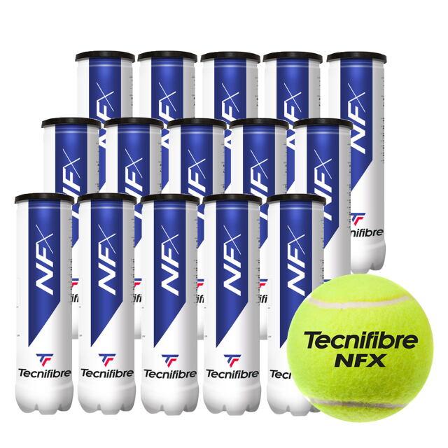 テクニファイバー  テニスボール   NFX (4個入缶)  1箱(15缶)   品番:TBA4NF1