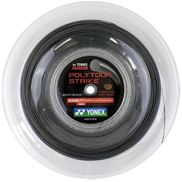 【送料無料】YONEXテニスストリング POLYTOUR STRIKE125ロール ゲージ:1.25mm カラー:アイアングレー 品番: PTST125-2