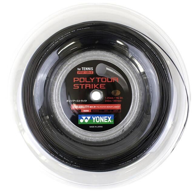 【送料無料】YONEXテニスストリング POLYTOUR STRIKE125ロール ゲージ:1.25mm カラー:クールブラック 品番: PTST125-2