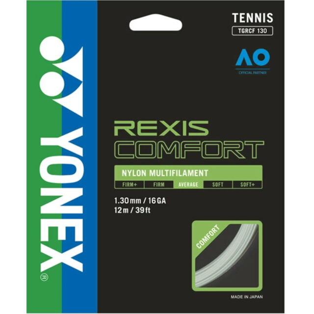 YONEX テニスストリング REXIS COMFORT 130 ゲージ:1.30mm 品番:TGRCF130