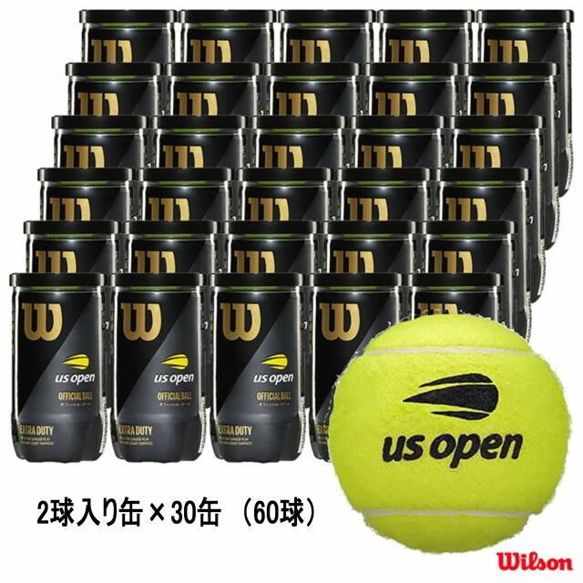 【送料無料】Wilson テニスボール  US OPEN EXTRA DUTY(2個入缶)          1箱(30缶)