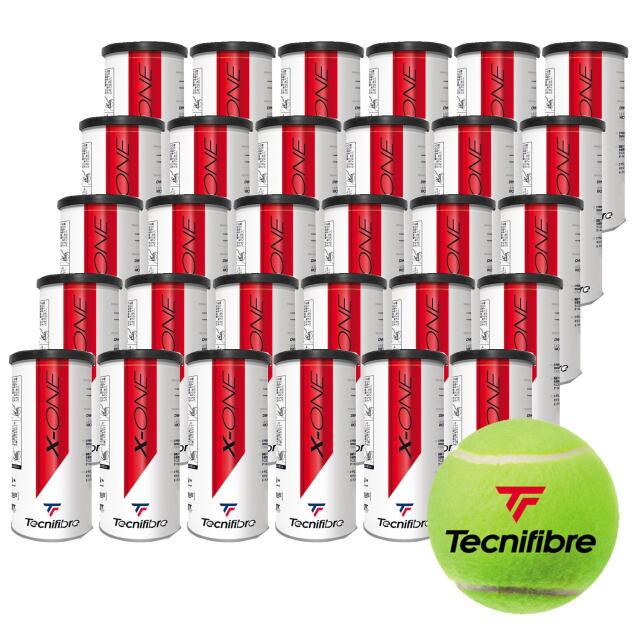 【送料無料】テクニファイバー   テニスボール  X-ONE (2個入缶)  1箱(30缶)      品番:TBA2XE1