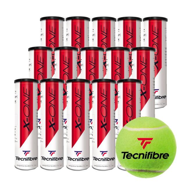 【送料無料】テクニファイバー   テニスボール  X-ONE (4個入缶)    1箱(15缶)  品番:TBA2XE2