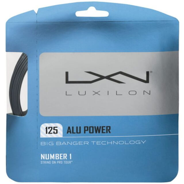 ルキシロン  テニスストリング  ポリエステル   ALU POWER125 WRZ995100SI(品番)