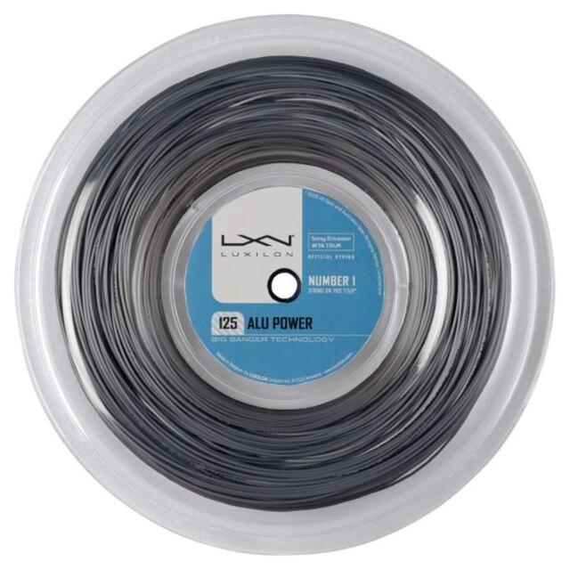 【送料無料】ルキシロン  テニスストリング  ポリエステル   ALU POWER125ロール(220m)    品番:WRZ990100SI