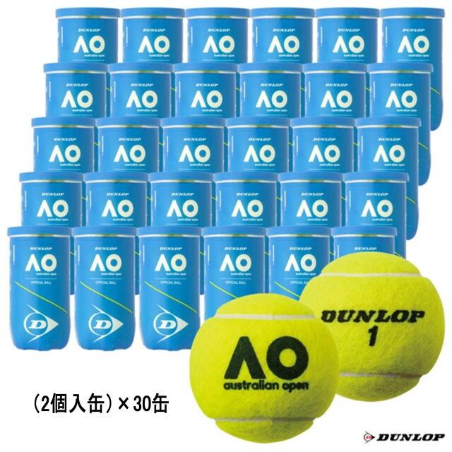 【送料無料】DUNLOPダンロップ   テニスボール   オーストラリアンオープン (2個入缶)           1箱(30缶)