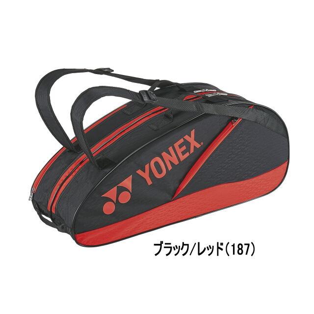ヨネックス  ラケットバッグ6<テニス6本用>     BAG2132R         カラー:ブラック/レッド