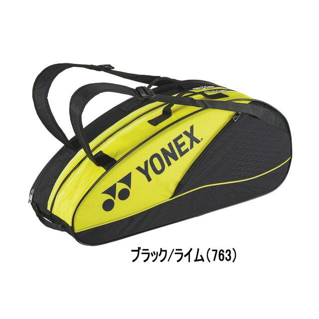 ヨネックス  ラケットバッグ6<テニス6本用>     BAG2132R         カラー:ブラック/ライム