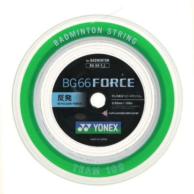 YONEXバドミントンストリング BG66 FORCE 100mロール  品番:BG66 F-1