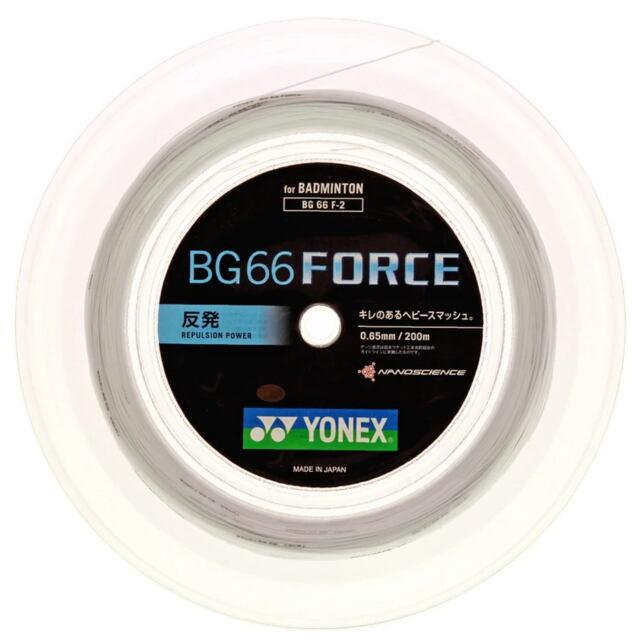 【送料無料】YONEXバドミントンストリング BG66 FORCE 200mロール  品番:BG66 F-2