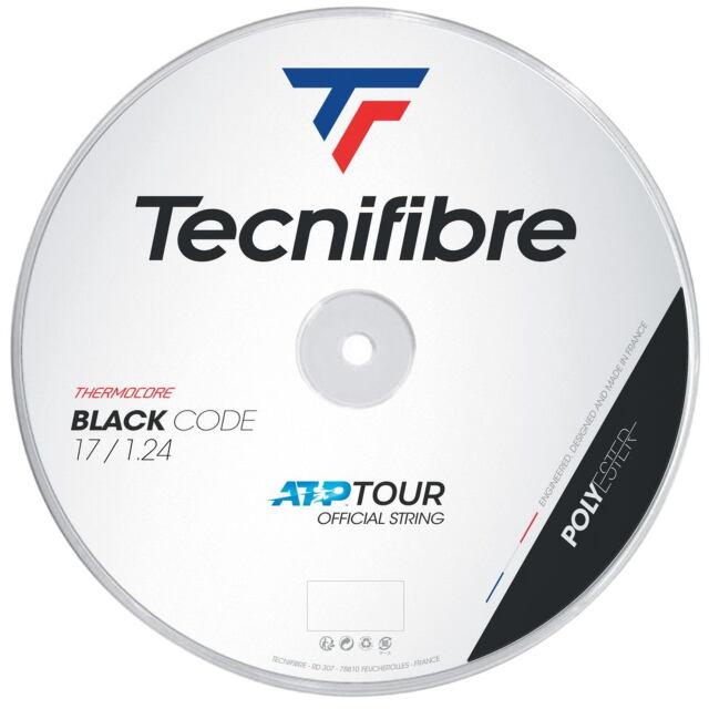 【送料無料】Tecnifibre テニスストリング BLACK CODE 200mロール    ゲージ:1.24mm