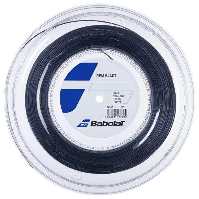 【送料無料】バボラ テニスストリング ポリエステル  RPM ブラスト200mロール    ゲージ:1.30mm    品番:243101