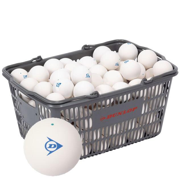 【送料無料】DUNLOP  ソフトテニスボール練習球 (ホワイト)  10ダース(カゴ入り)      品番:DSTBPRA2CS120
