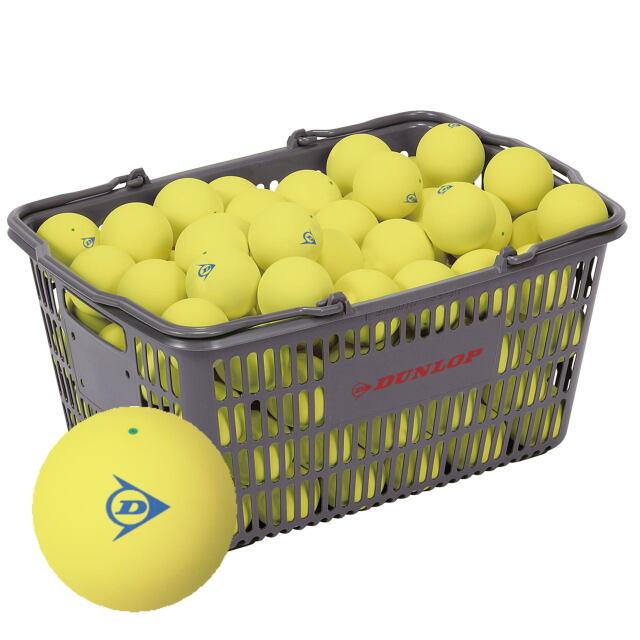 【送料無料】DUNLOP  ソフトテニスボール練習球 (イエロー)  10ダース(カゴ入り)      品番:DSTBYLPRA2CS120