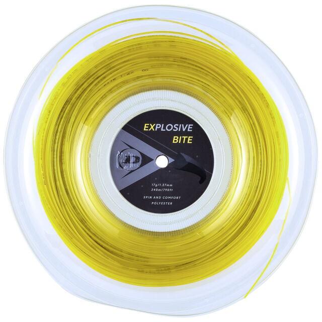 【送料無料】DUNLOP テニスストリング ポリエステル EXPLOSIVE BITE 240mロール ゲージ:1.27mm カラー:イエロー 品番:DST12011