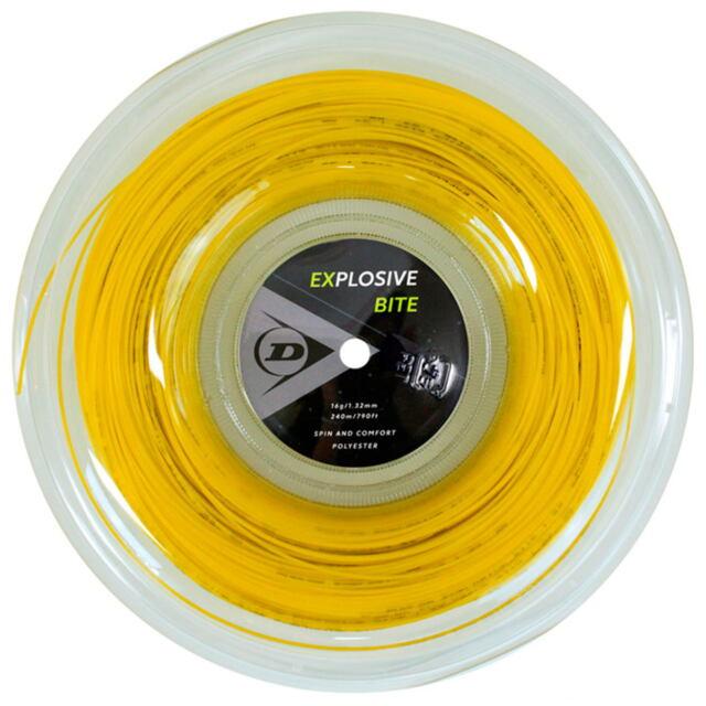 【送料無料】DUNLOP テニスストリング ポリエステル EXPLOSIVE BITE 240mロール ゲージ:1.32mm カラー:イエロー 品番:DST12011