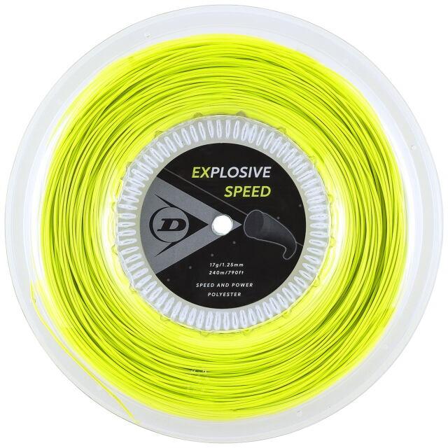 【送料無料】DUNLOP テニスストリング ポリエステル EXPLOSIVE SPEED 240mロール ゲージ:1.25mm カラー:イエロー 品番:DST12021