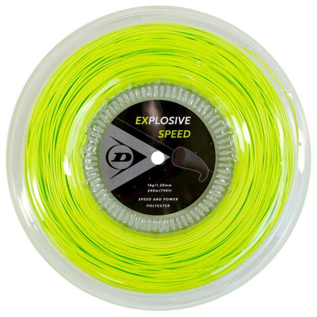 【送料無料】DUNLOP テニスストリング ポリエステル EXPLOSIVE SPEED 240mロール ゲージ:1.30mm カラー:イエロー 品番:DST12021