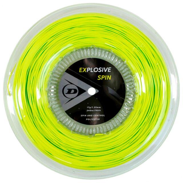 【送料無料】DUNLOP テニスストリング ポリエステル EXPLOSIVE SPIN  240mロール ゲージ:1.25mm カラー:イエロー 品番:DST12001