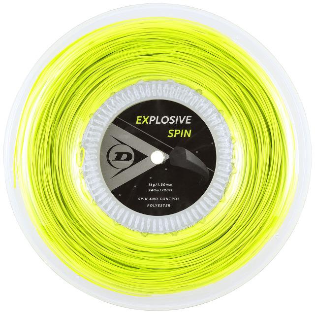 【送料無料】DUNLOP テニスストリング ポリエステル EXPLOSIVE SPIN  240mロール ゲージ:1.30mm カラー:イエロー 品番:DST12001