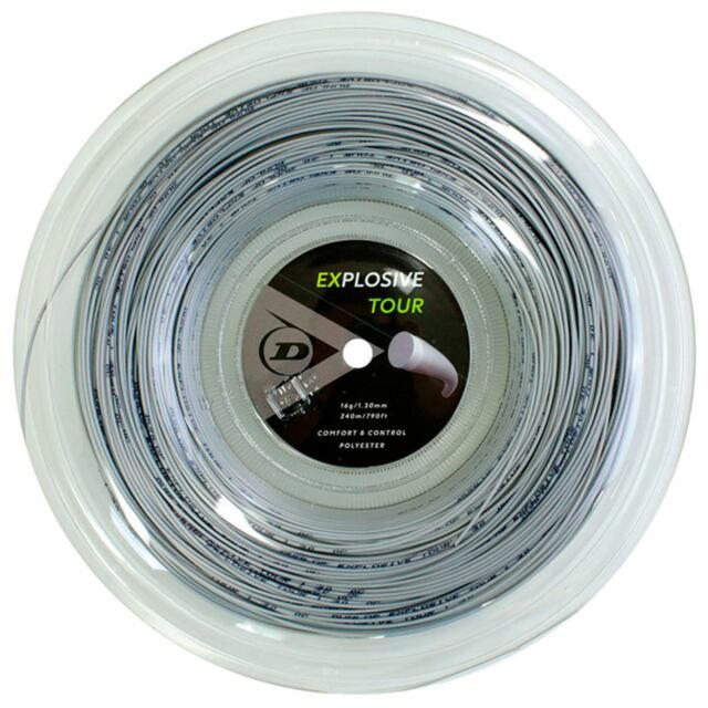 【送料無料】DUNLOP テニスストリング ポリエステル EXPLOSIVE TOUR 240mロール ゲージ:1.30mm カラー:グレー 品番:DST11031