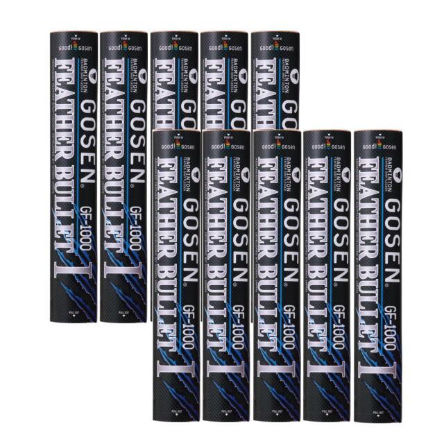 【送料無料】GOSENシャトルコック フェザーバレット1000 10ダース    品番:GF-1000