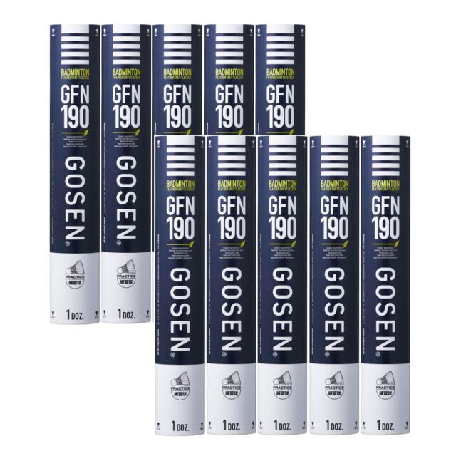 【送料無料】GOSENシャトルコック GFN190 10ダース    品番:GFN190