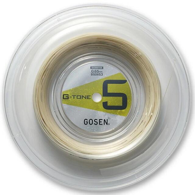 【送料無料】GOSENバドミントンガット   G-TONE5(ジー・トーン5)220mロール   品番:BS0653NA