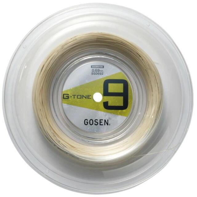 【送料無料】GOSENバドミントンガット   G-TONE9(ジー・トーン9)220mロール  品番:BS0693NA
