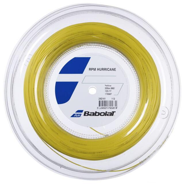 【送料無料】バボラ テニスストリング ポリエステル  RPM ハリケーン200mロール   ゲージ:1.25mm  品番:243141