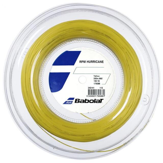 【送料無料】バボラ テニスストリング ポリエステル  RPM ハリケーン200mロール   ゲージ:1.30mm  品番:243141