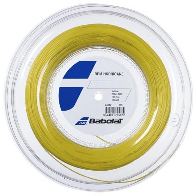 【送料無料】バボラ テニスストリング ポリエステル  RPM ハリケーン200mロール   ゲージ:1.35mm  品番:243141