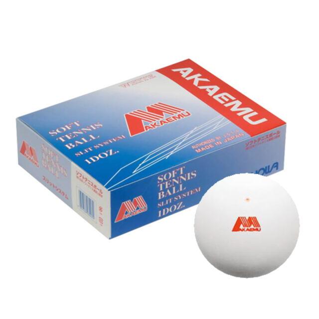 アカエム  ソフトテニスボール公認球 アカエムボール 1ダース(箱)ホワイト   品番:M-30000