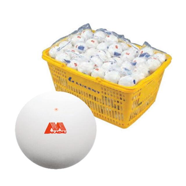 アカエム  ソフトテニスボール公認球 アカエムボール 10ダース(カゴ入り)ホワイト   品番:M-30030