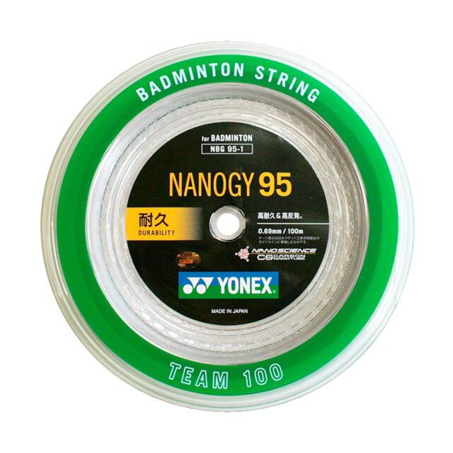 YONEXバドミントンストリング NANOGY95 100mロール 品番:NBG95-1