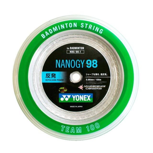 YONEXバドミントンストリング NANOGY 98 100mロール  品番:NBG98-1