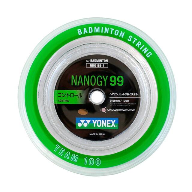 YONEXバドミントンストリング NANOGY99 100mロール  品番:NBG99-1