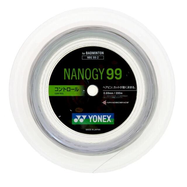 【送料無料】YONEXバドミントンストリング NANOGY99 200mロール  品番:NBG99-2