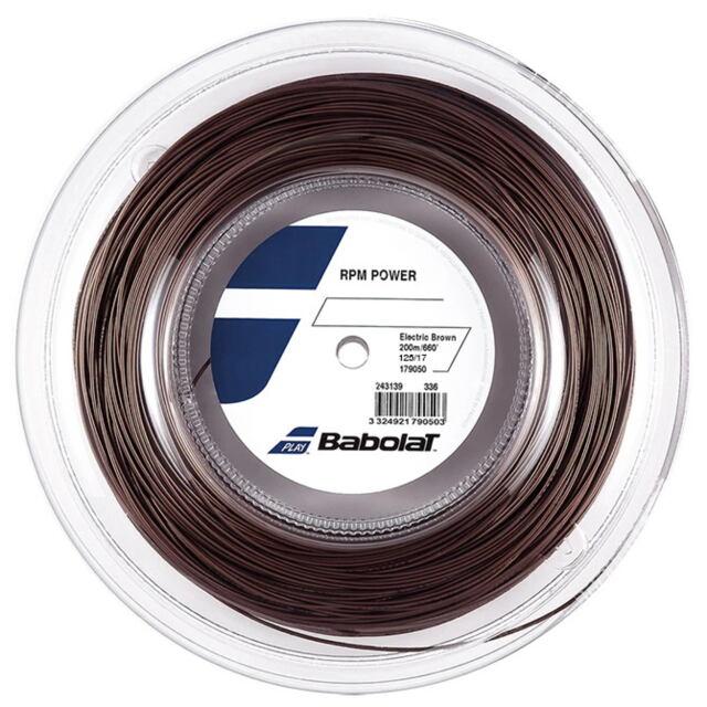 【送料無料】バボラ  テニスストリング  ポリエステル       RPM パワー 200mロール     ゲージ:1.25mm   カラー:エレクトリックブラウン    品番:243139