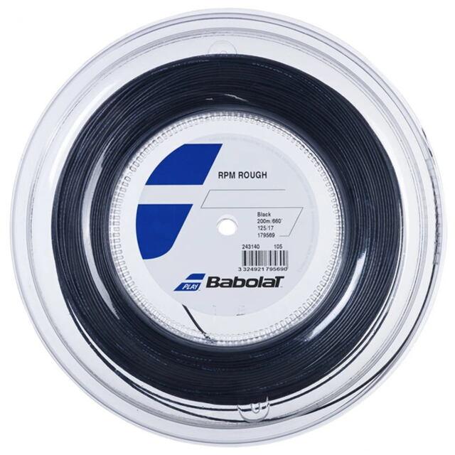 [送料無料] バボラ テニスストリング     RPM ラフ 200mロール   ゲージ:1.25mm   カラー:ブラック      品番:243140