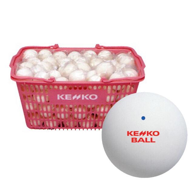 【送料無料】KENKO  ソフトテニスボール公認球 (ホワイト)  10ダース(カゴ入り)      品番:TSOWK-V