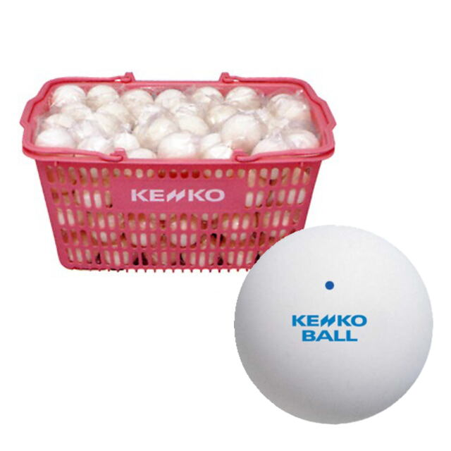 【送料無料】KENKO  ソフトテニスボール練習球 (ホワイト)  10ダース(カゴ入り)      品番:TSSWK-V