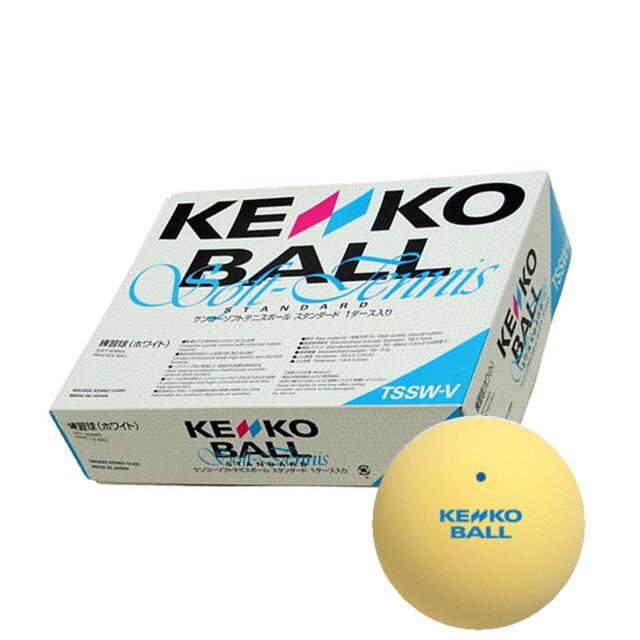 KENKO ソフトテニスボール 練習球 1ダース(箱)イエロー   品番:TSSY-V