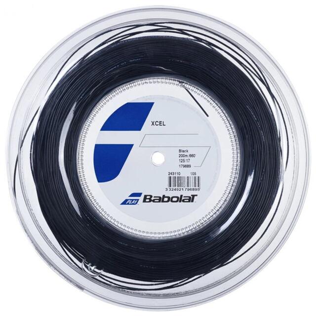 【送料無料】バボラ テニスストリング ナイロンマルチフィラメント Xcel(エクセル)125 ロール ゲージ:1.25mm カラー:ブラック 品番:243110